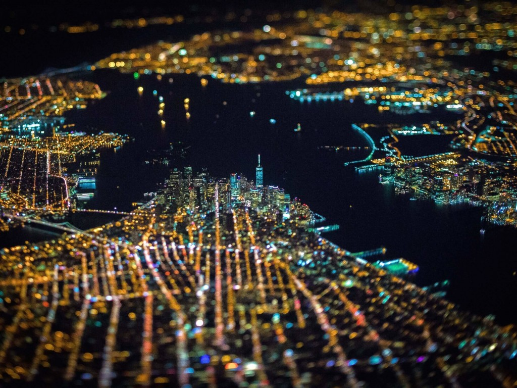 New York City From Above Wallpaper for Desktop 1024x768