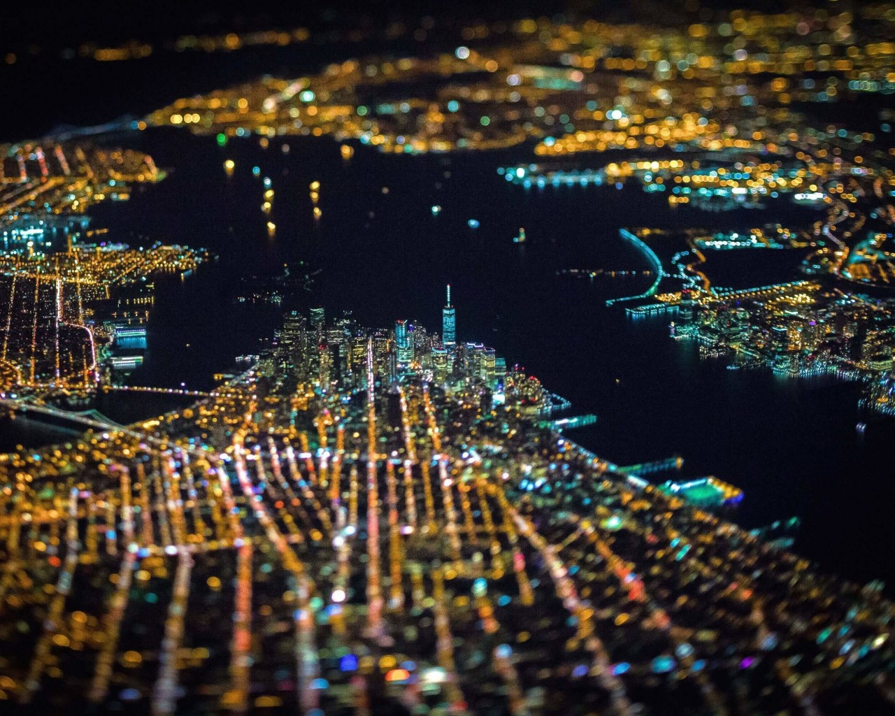 New York City From Above Wallpaper for Desktop 1280x1024