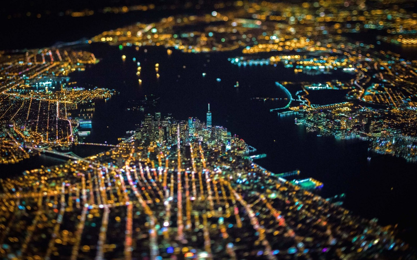 New York City From Above Wallpaper for Desktop 1440x900