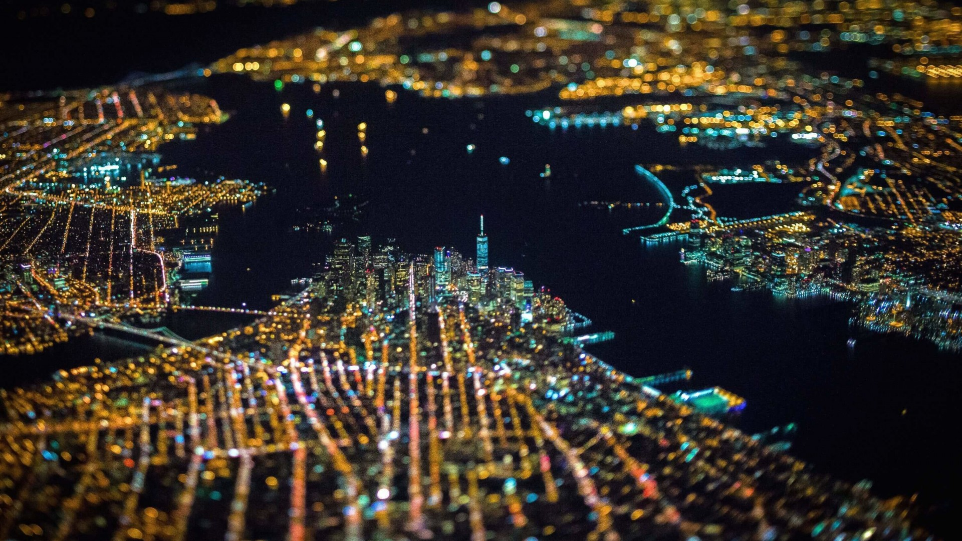 New York City From Above Wallpaper for Desktop 1920x1080