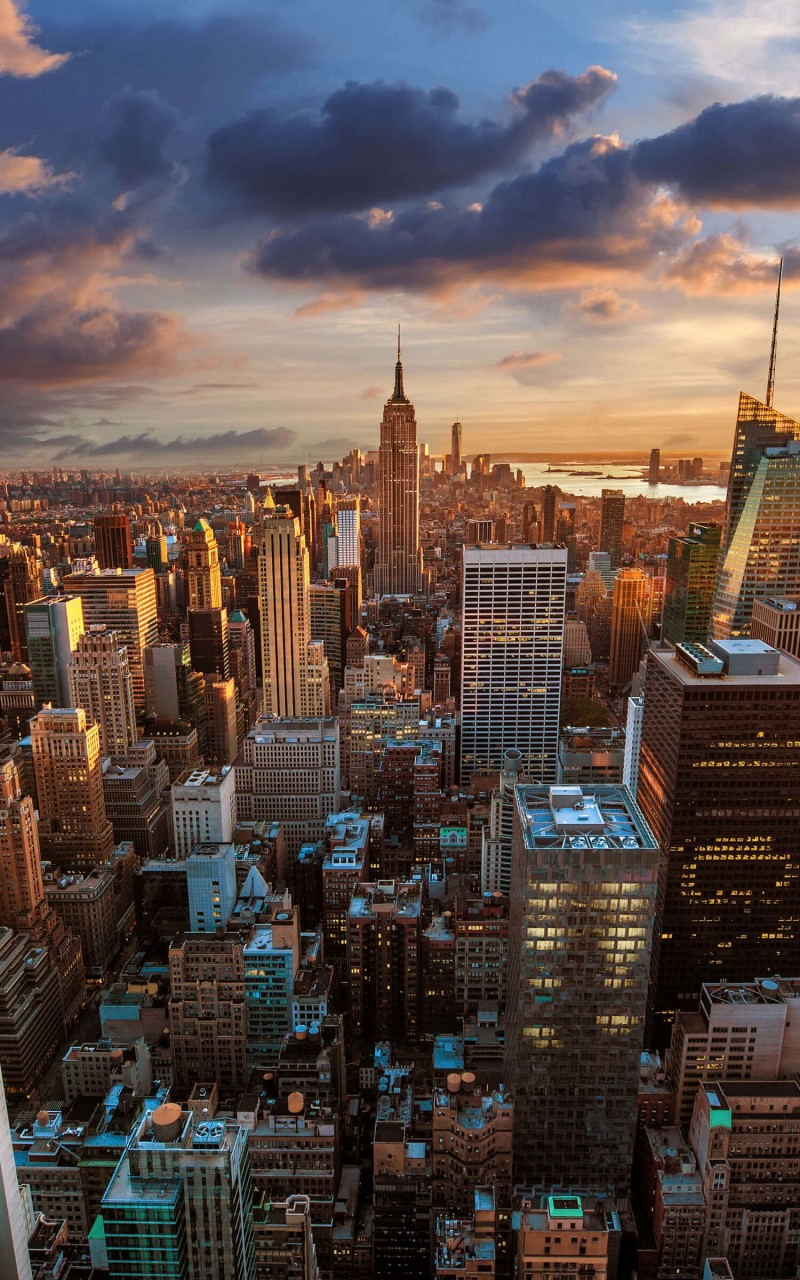 New York City Skyline At Sunset Wallpaper for Amazon Kindle Fire HD