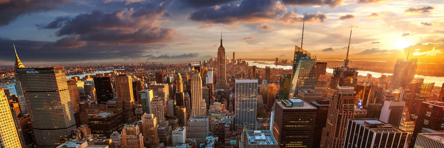 New York City Skyline At Sunset Wallpaper for Social Media Twitter Header