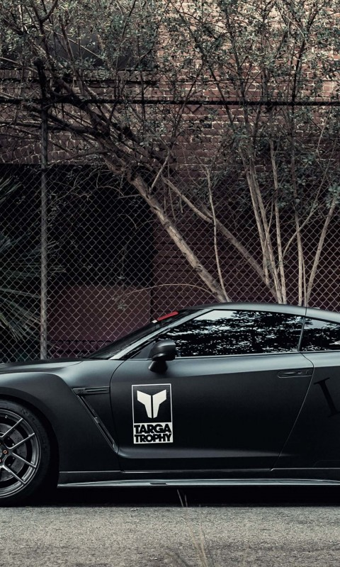 Nissan GT-R Black Edition Wallpaper for SAMSUNG Galaxy S3 Mini