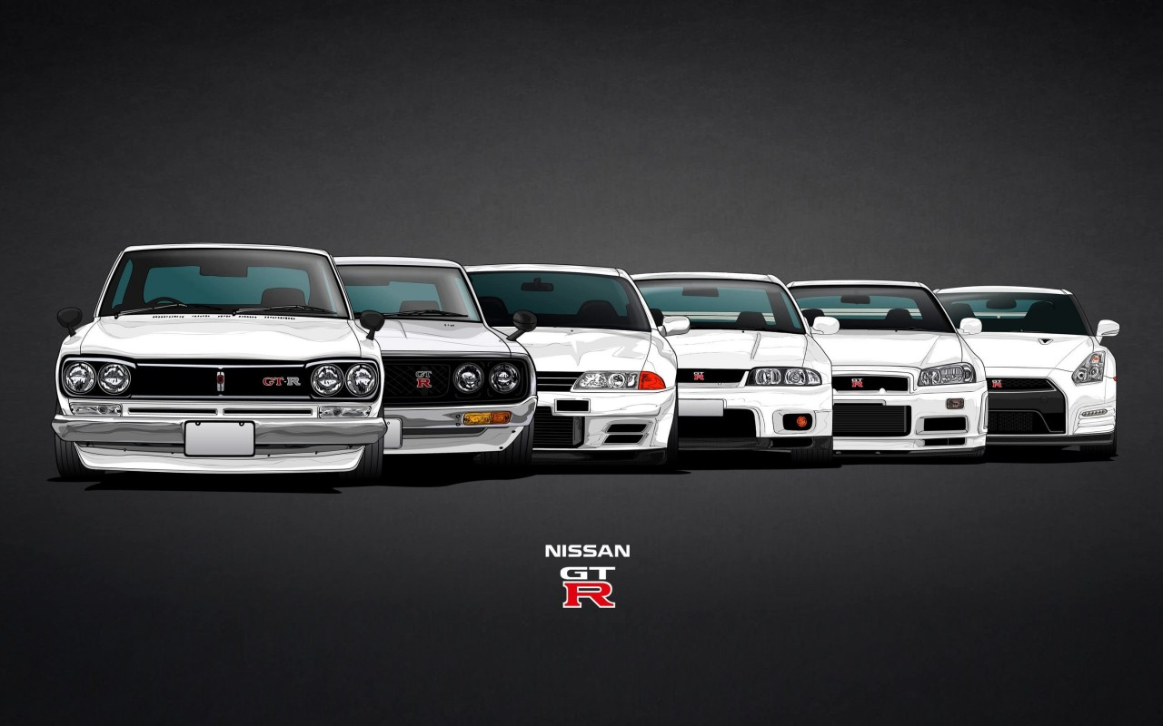 Nissan Skyline GT-R Evolution Wallpaper for Desktop 1280x800