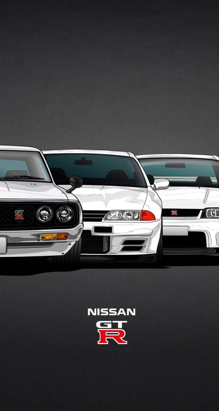 Nissan Skyline GT-R Evolution Wallpaper for Apple iPhone 5 / 5s
