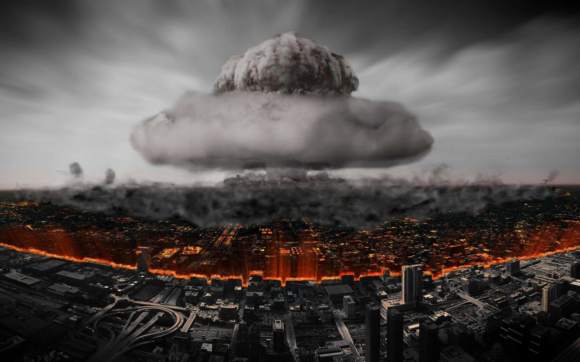 Nuclear Mushroom Cloud Wallpaper for Desktop 1920x1200