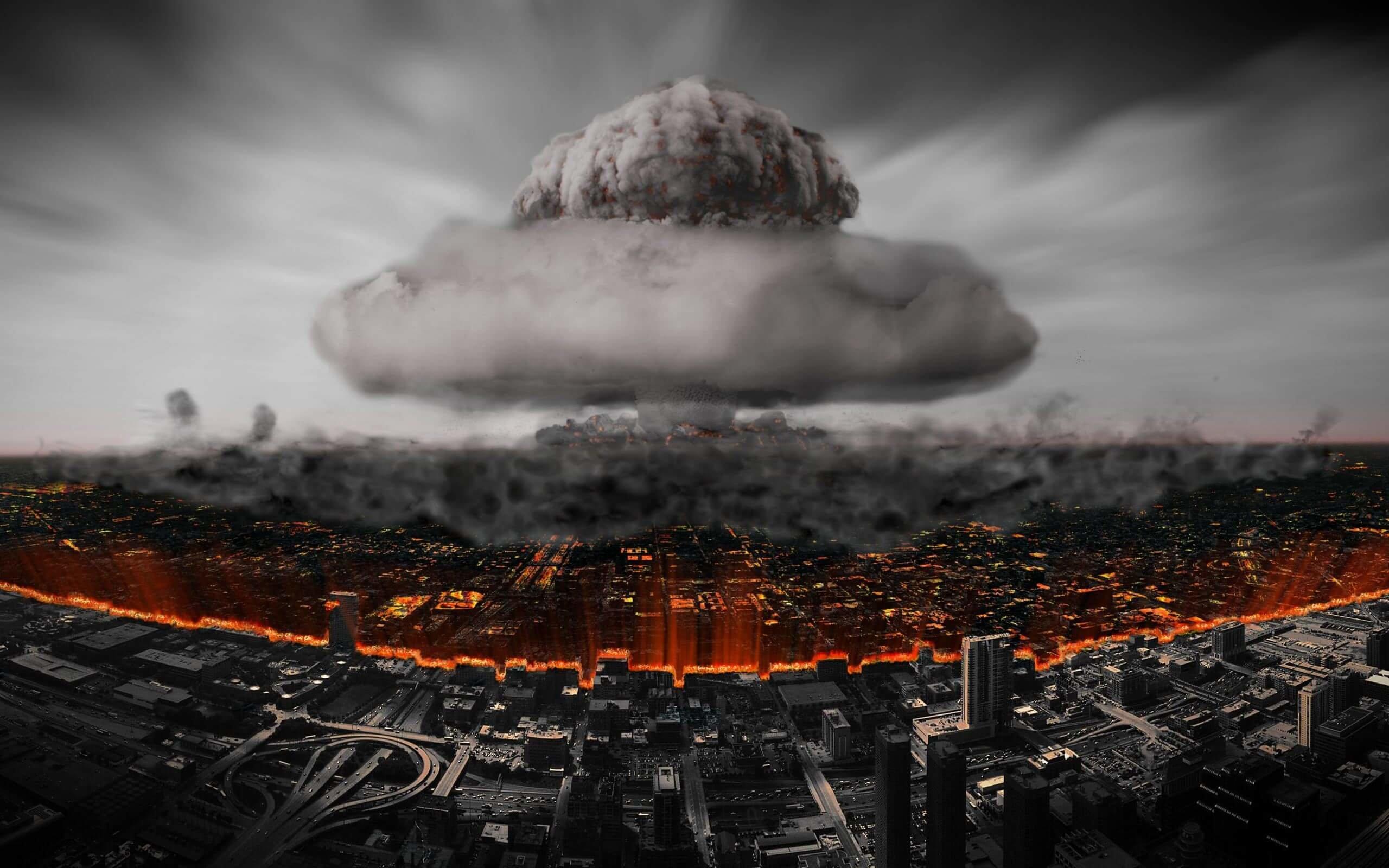 Download Nuclear Mushroom Cloud HD wallpaper for 2560 x ...