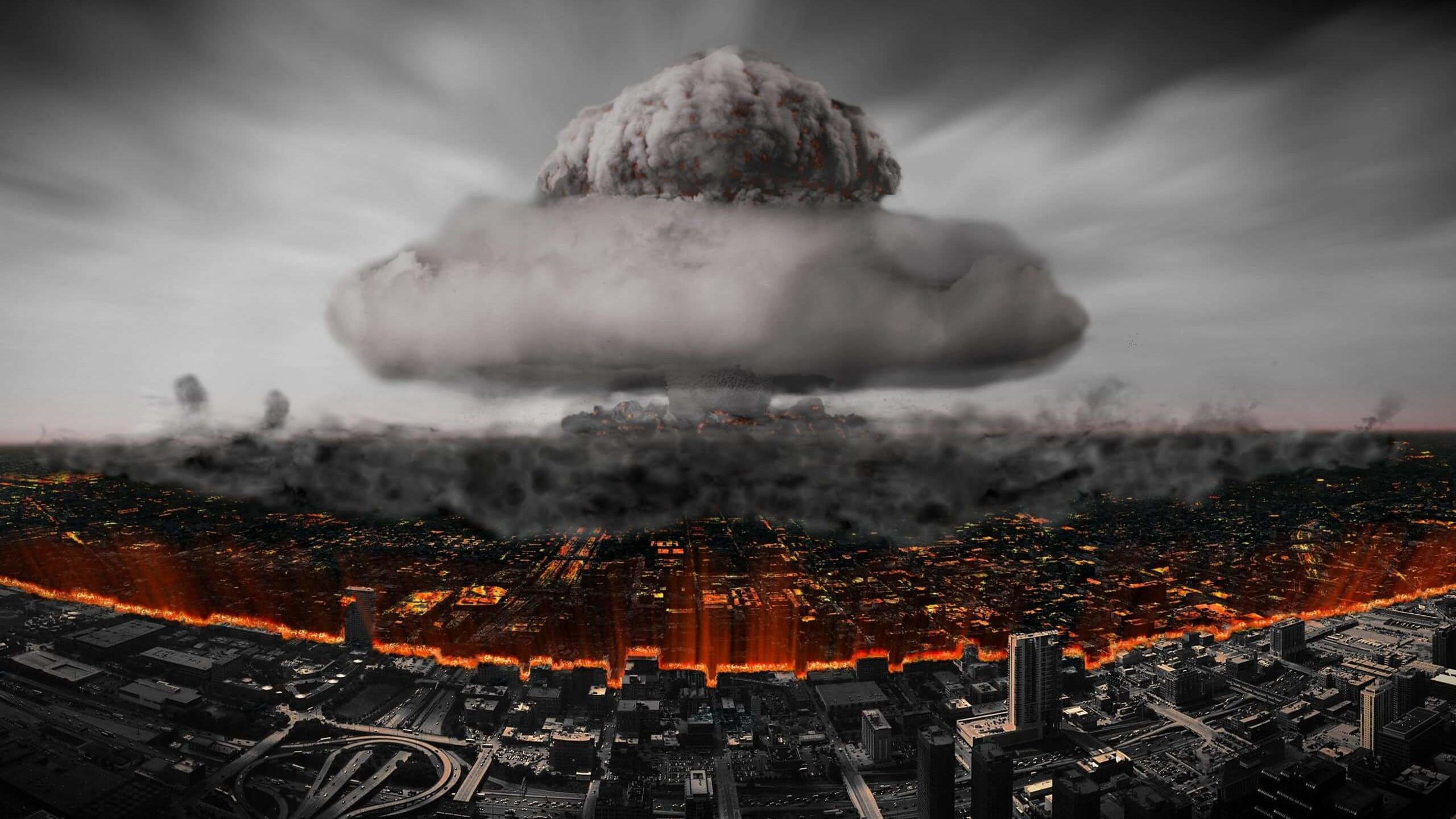 Nuclear Mushroom Cloud Wallpaper for Social Media YouTube Channel Art