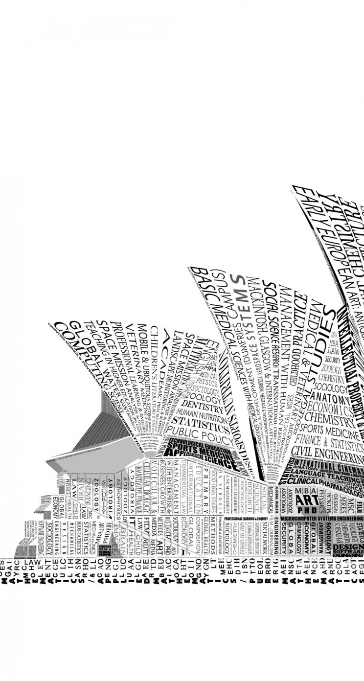 Opera House Sydney Typography Wallpaper for Apple iPhone 5 / 5s