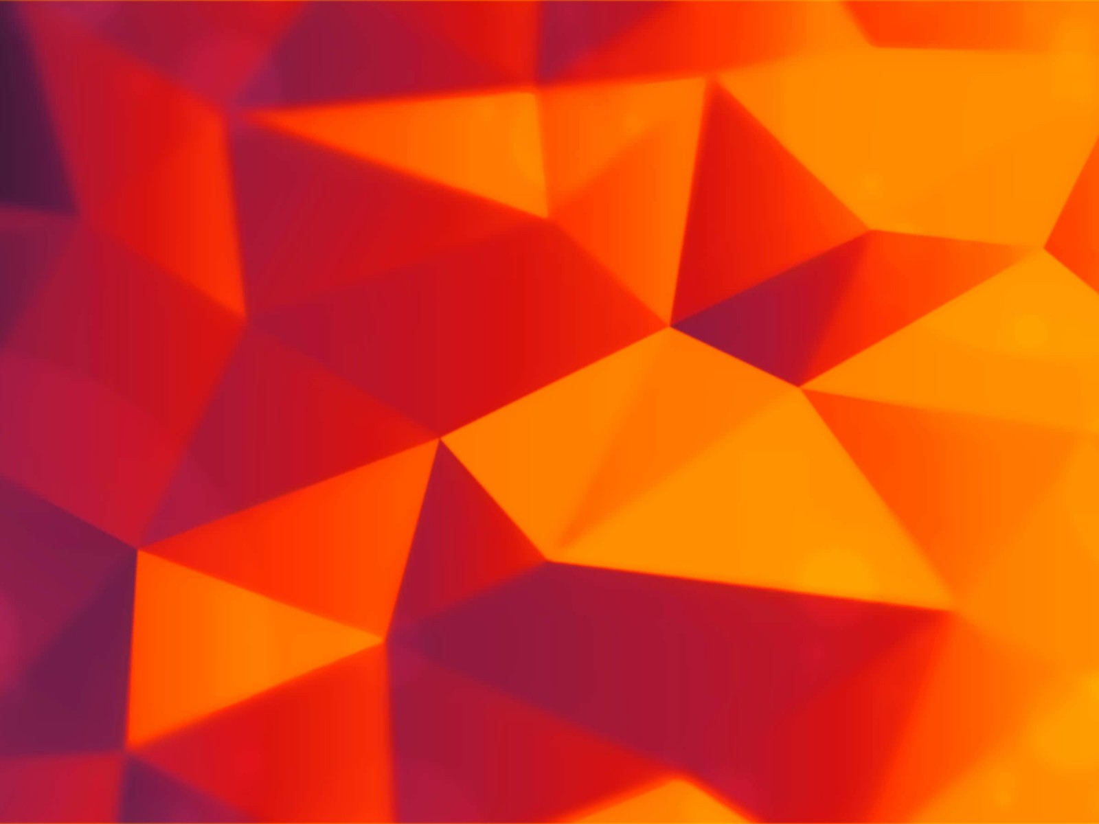 Orange Polygons Wallpaper for Desktop 1600x1200