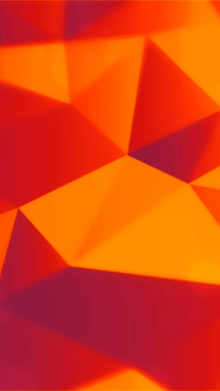 Orange Polygons Wallpaper for HTC One X