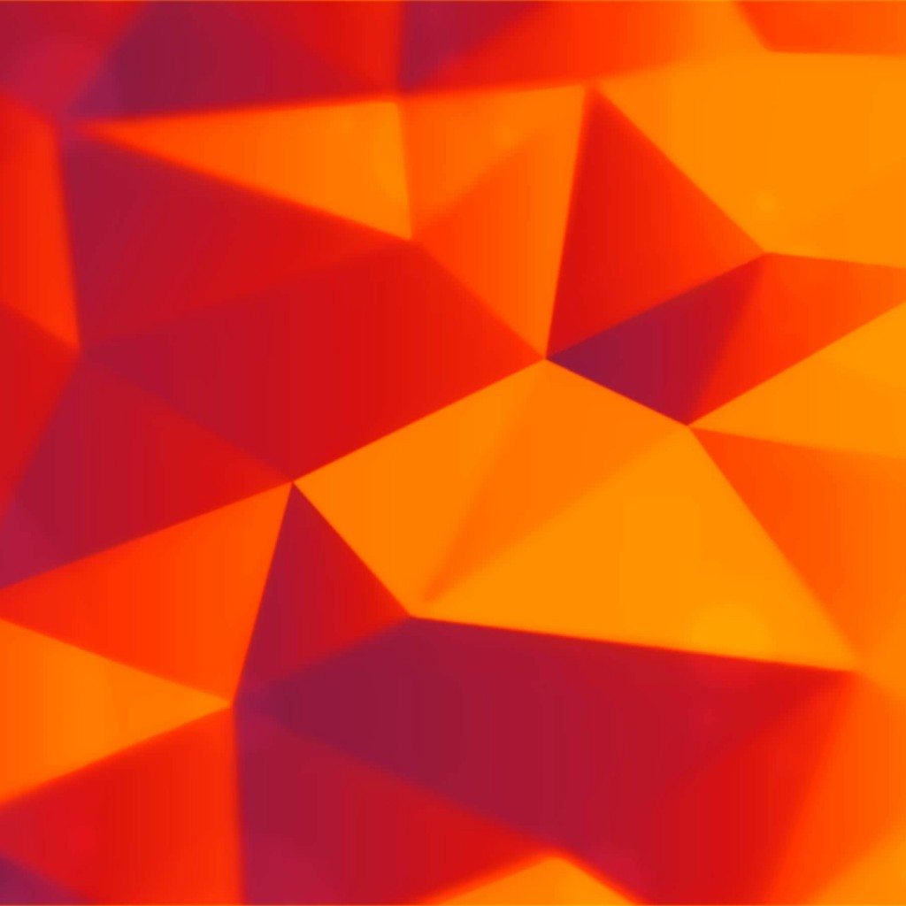 Orange Polygons Wallpaper for Apple iPad 2