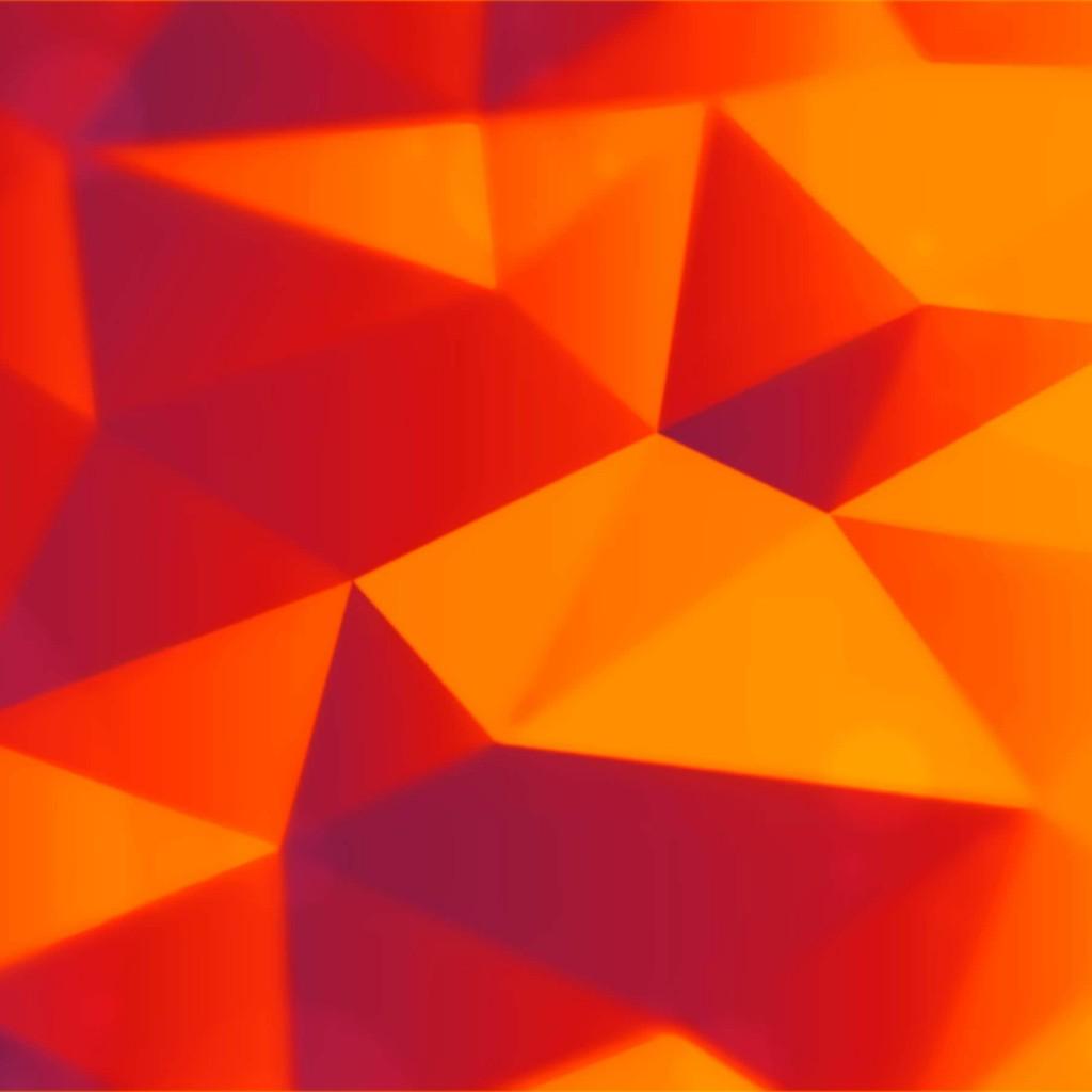 Orange Wallpaper Hd: Download Orange Polygons HD Wallpaper For IPad