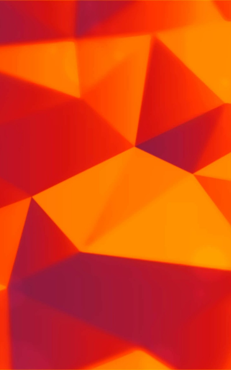 Orange Polygons Wallpaper for Amazon Kindle Fire HD