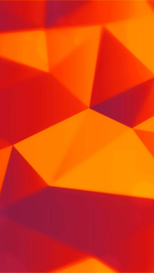 Orange Polygons Wallpaper for LG G2 mini