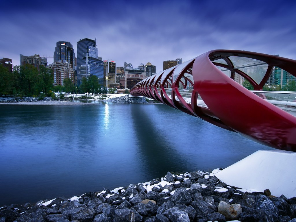 Peace Bridge Wallpaper for Desktop 1024x768