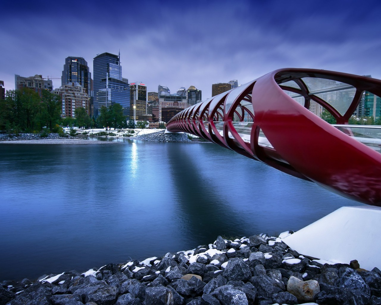 Peace Bridge Wallpaper for Desktop 1280x1024