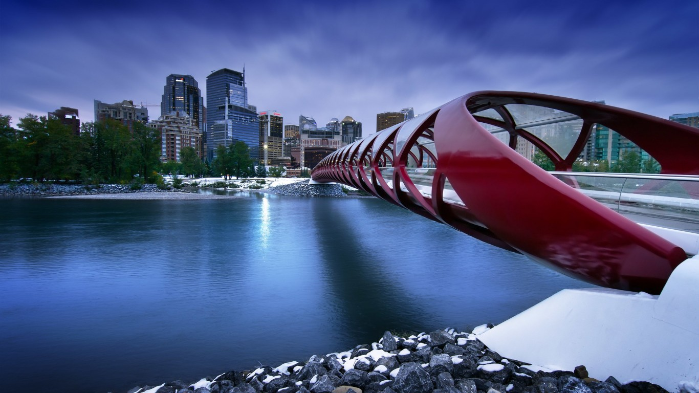 Peace Bridge Wallpaper for Desktop 1366x768