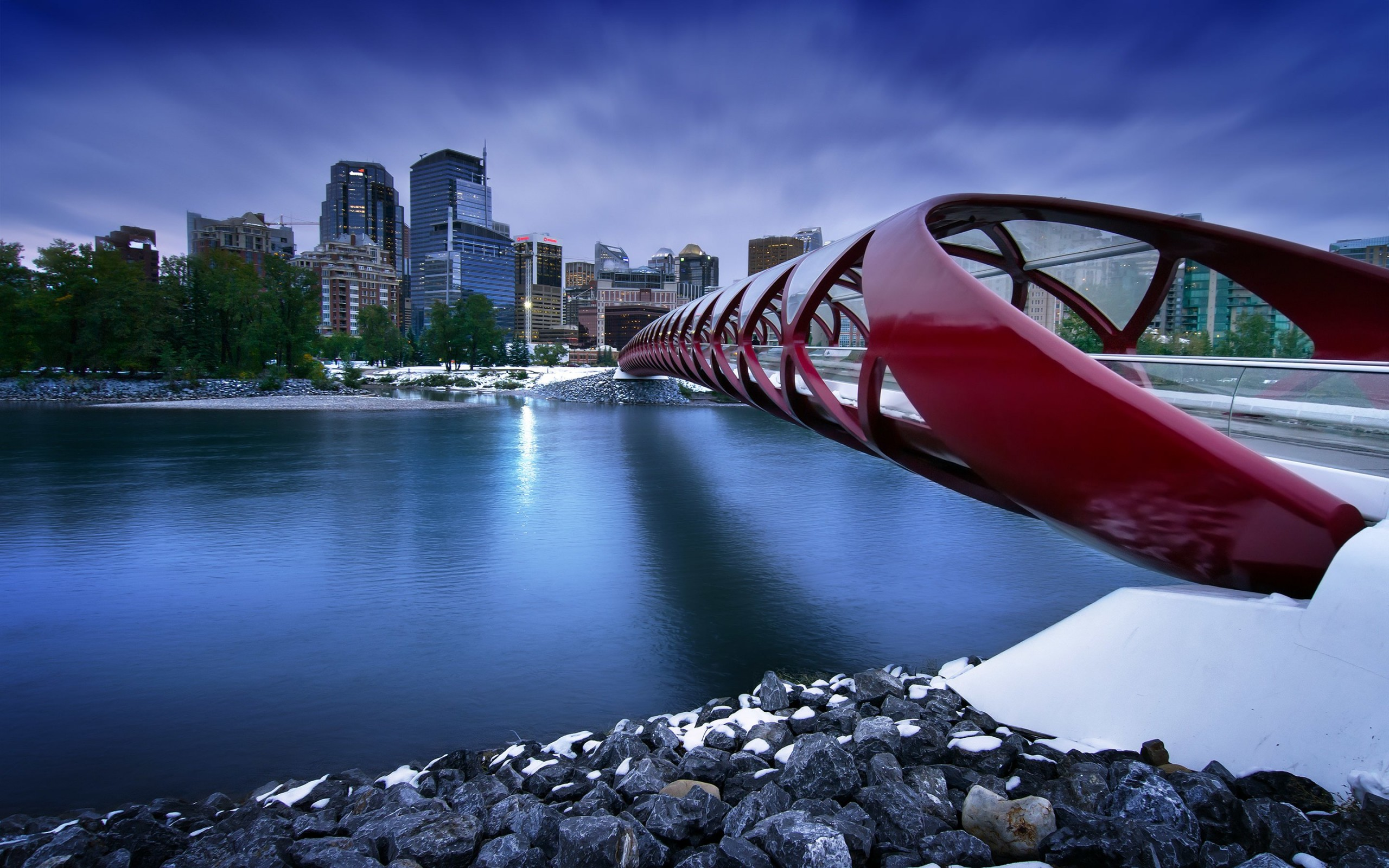 Peace Bridge Wallpaper for Desktop 2560x1600