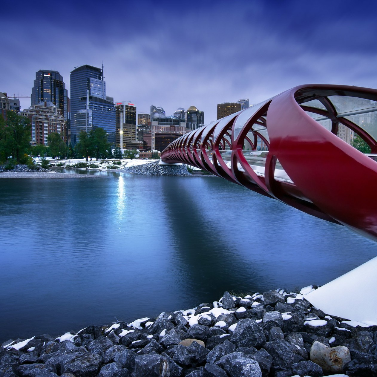 Peace Bridge Wallpaper for Apple iPad mini