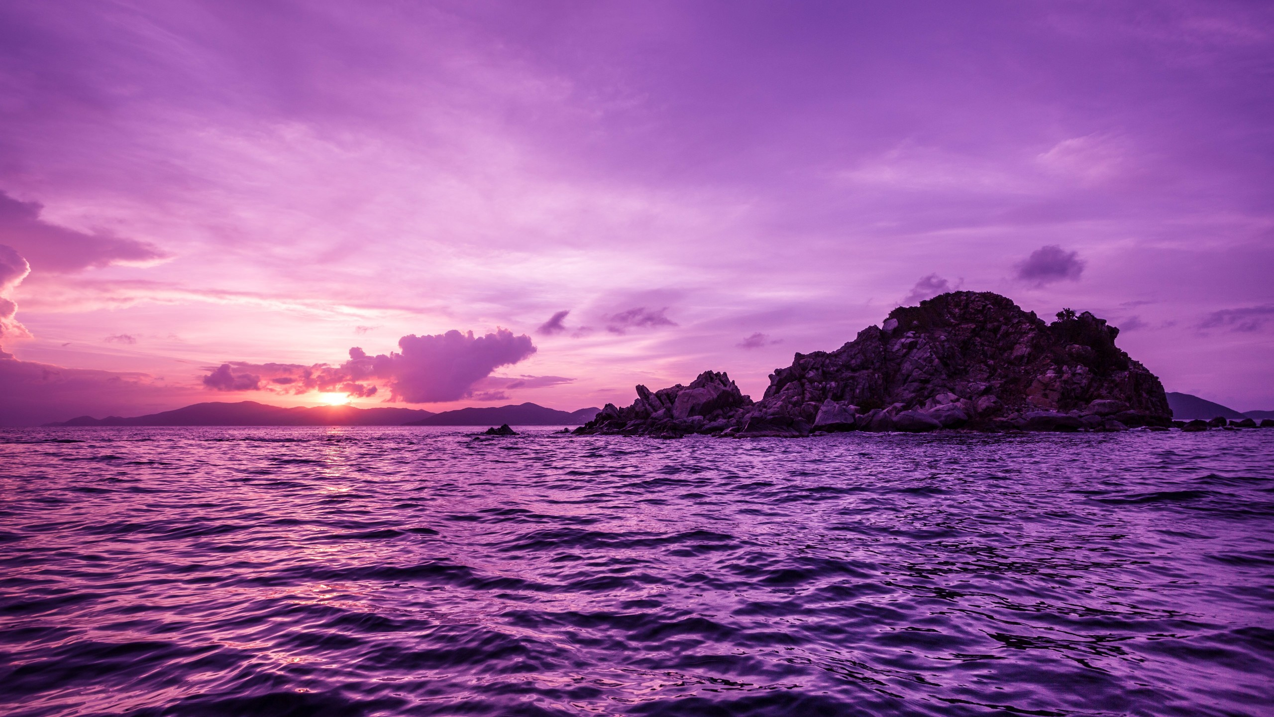 Pelican Island Sunset, British Virgin Islands Wallpaper for Desktop 2560x1440