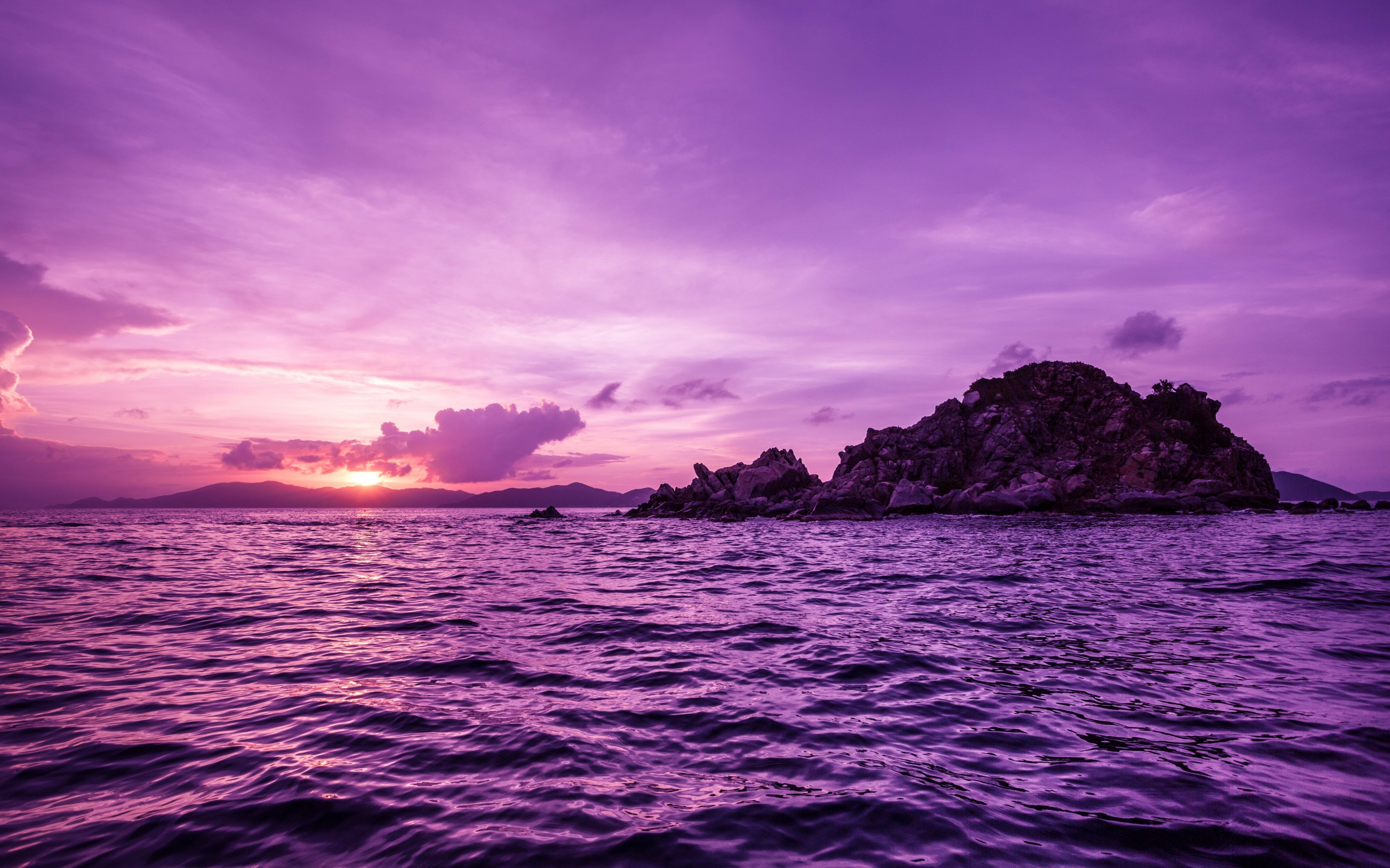 Pelican Island Sunset, British Virgin Islands Wallpaper for Desktop 2880x1800