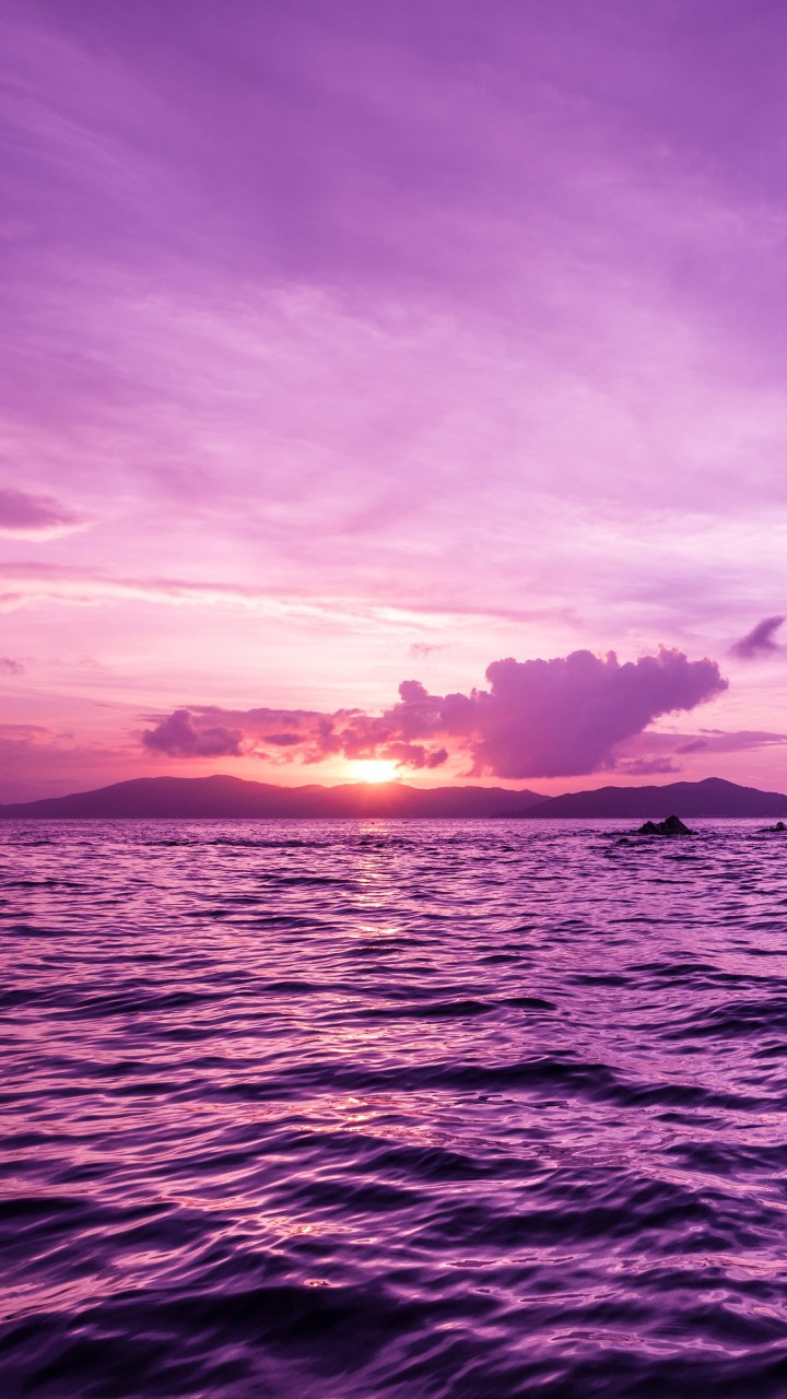 Pelican Island Sunset, British Virgin Islands Wallpaper for HTC One mini
