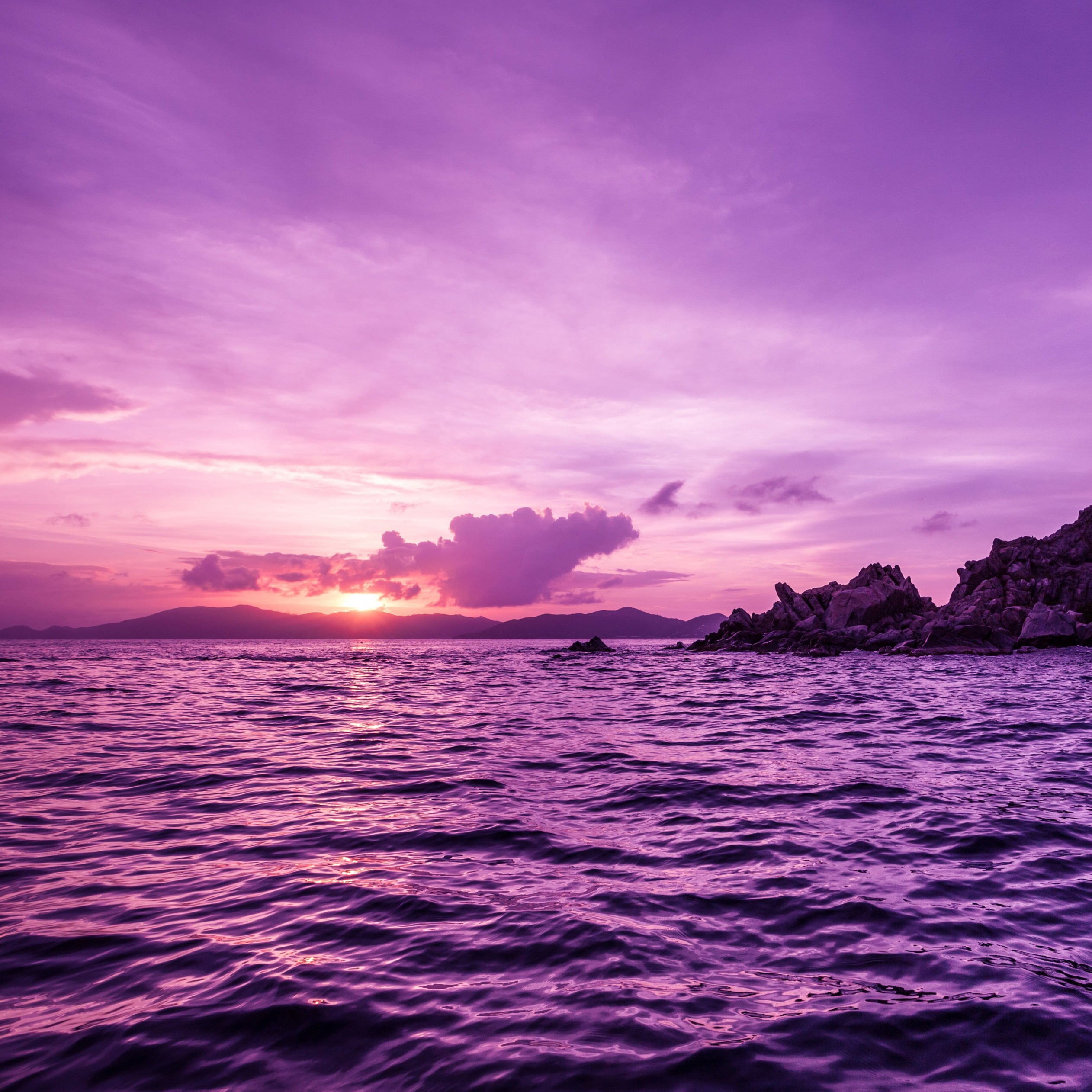 Pelican Island Sunset, British Virgin Islands Wallpaper for Apple iPad mini 2