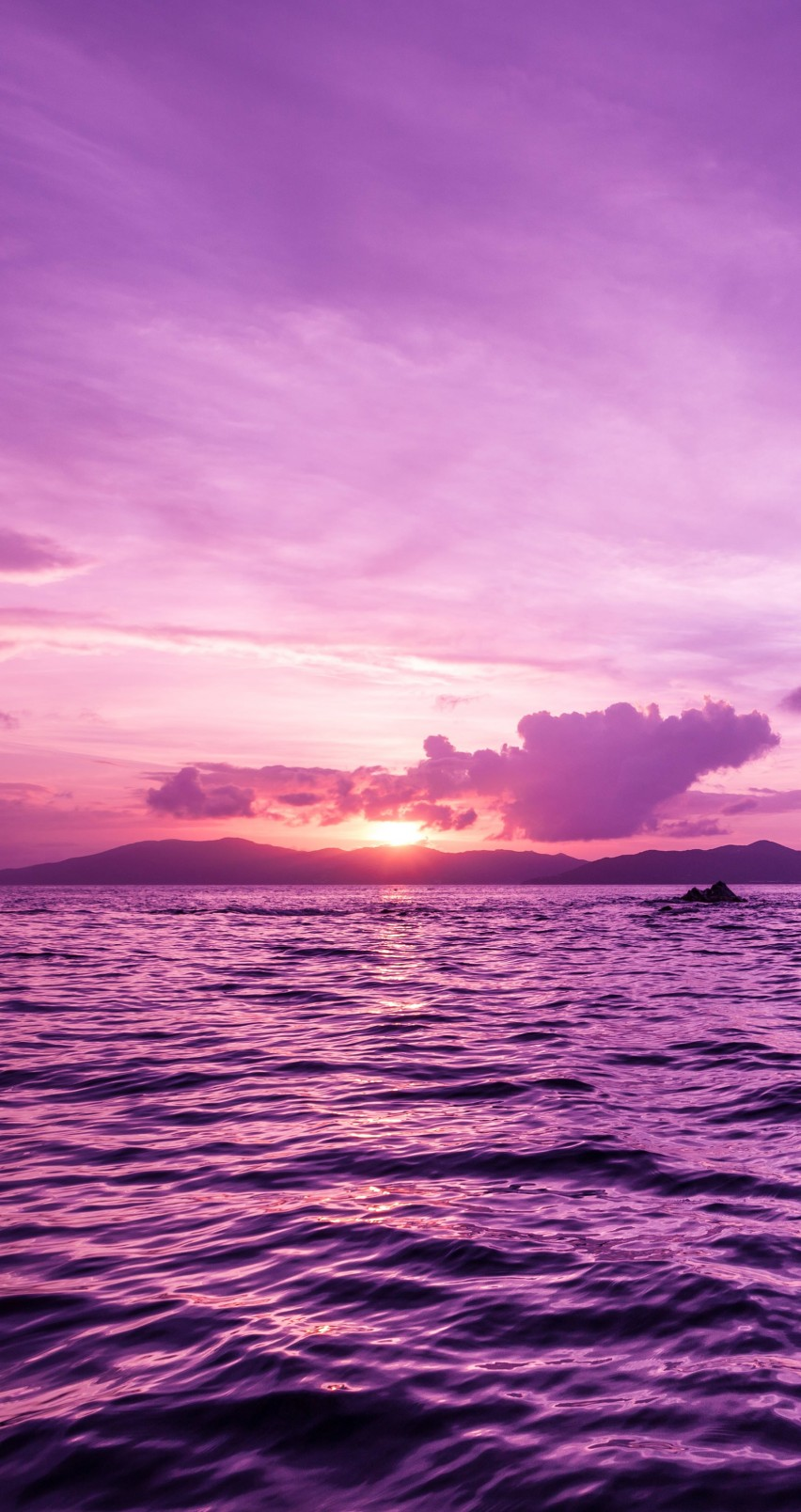 Pelican Island Sunset, British Virgin Islands Wallpaper for Apple iPhone 6 / 6s