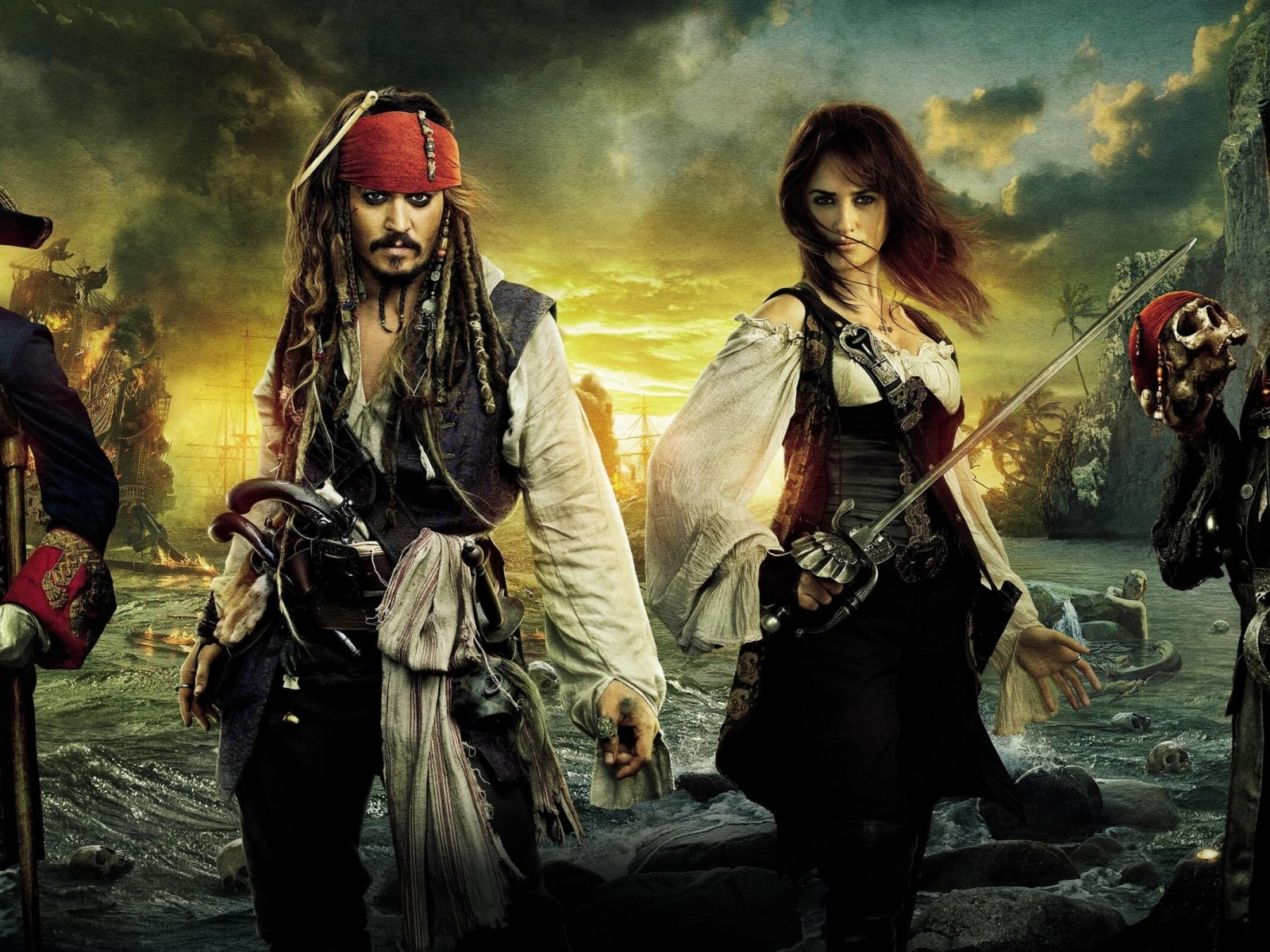 Pirates of the Caribbean: On Stranger Tides Characters Wallpaper for Desktop 1600x1200