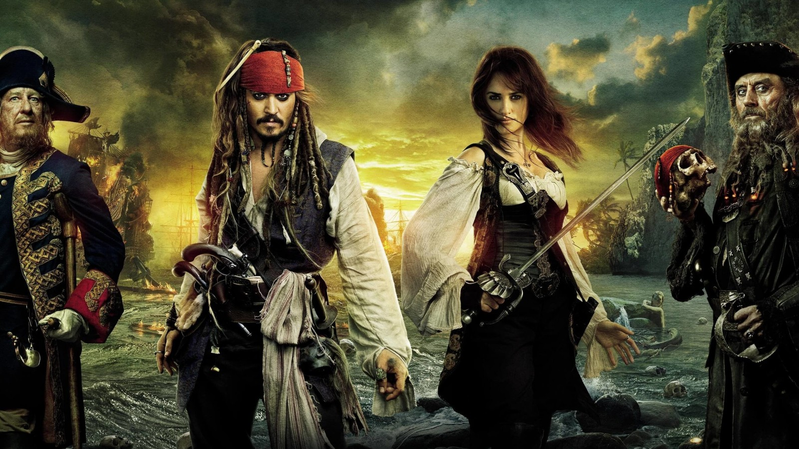 Pirates of the Caribbean: On Stranger Tides Characters Wallpaper for Desktop 1600x900
