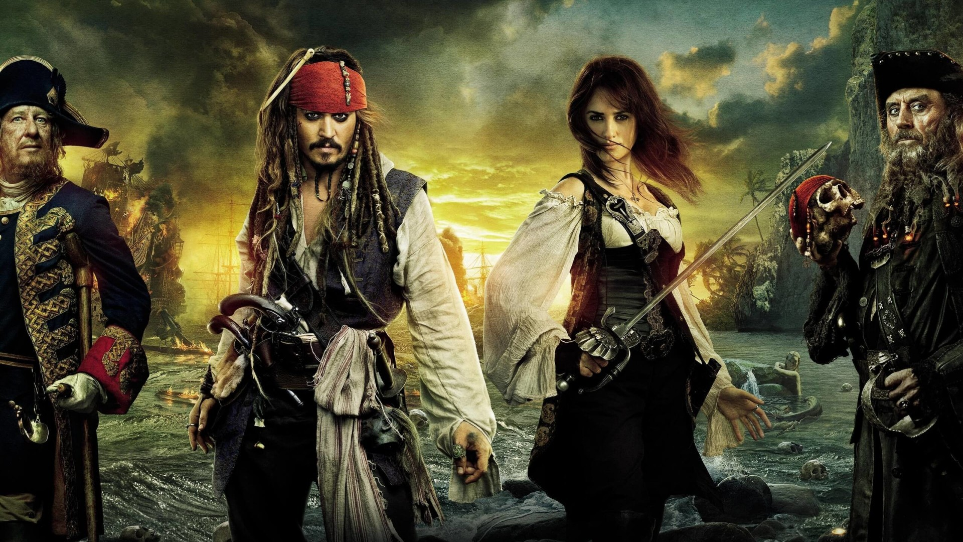 Pirates of the Caribbean: On Stranger Tides Characters Wallpaper for Desktop 1920x1080