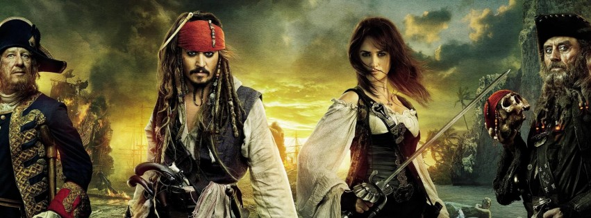 Pirates of the Caribbean: On Stranger Tides Characters Wallpaper for Social Media Facebook Cover