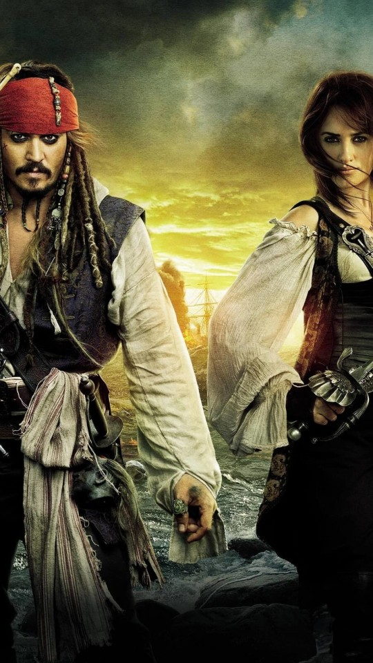 Pirates of the Caribbean: On Stranger Tides Characters Wallpaper for SAMSUNG Galaxy S4 Mini