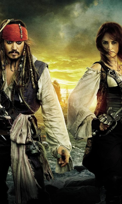 Pirates of the Caribbean: On Stranger Tides Characters Wallpaper for HTC Desire HD
