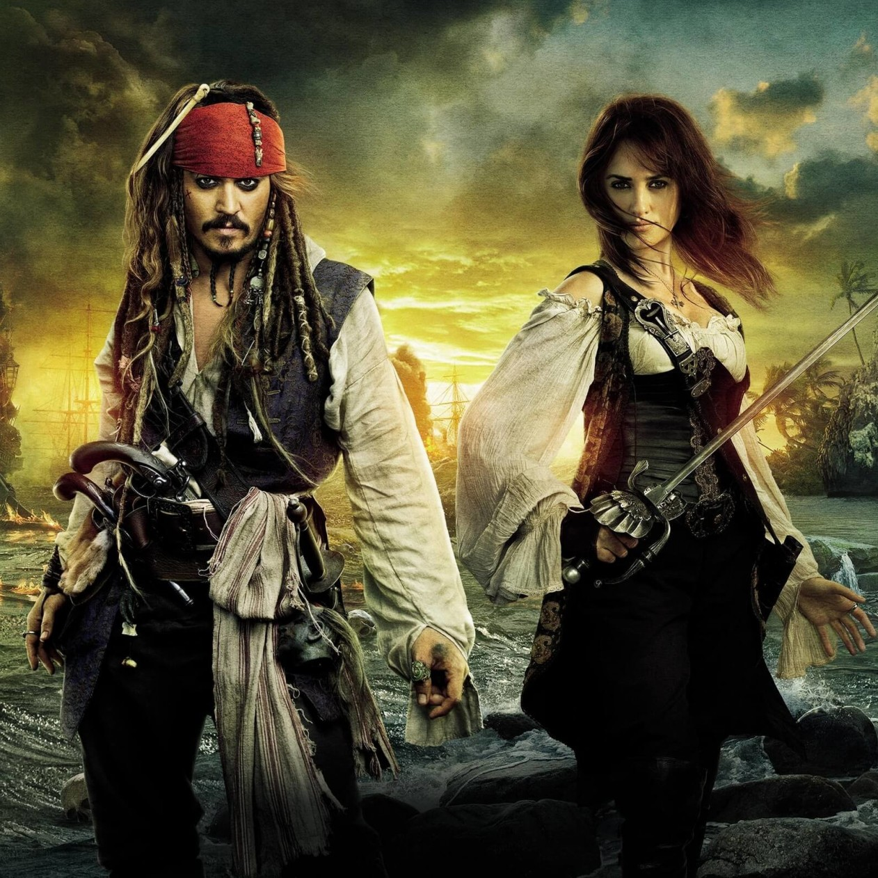 Pirates of the Caribbean: On Stranger Tides Characters Wallpaper for Apple iPad mini