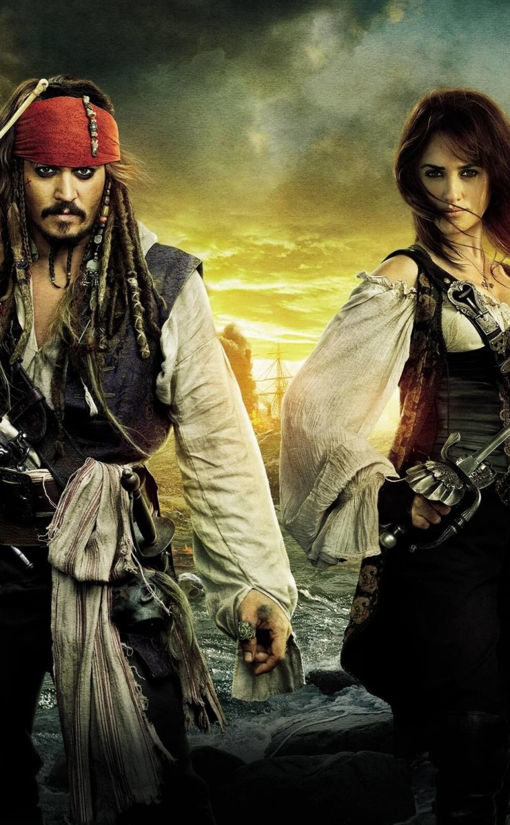 Pirates of the Caribbean: On Stranger Tides Characters Wallpaper for Apple iPhone 4 / 4s