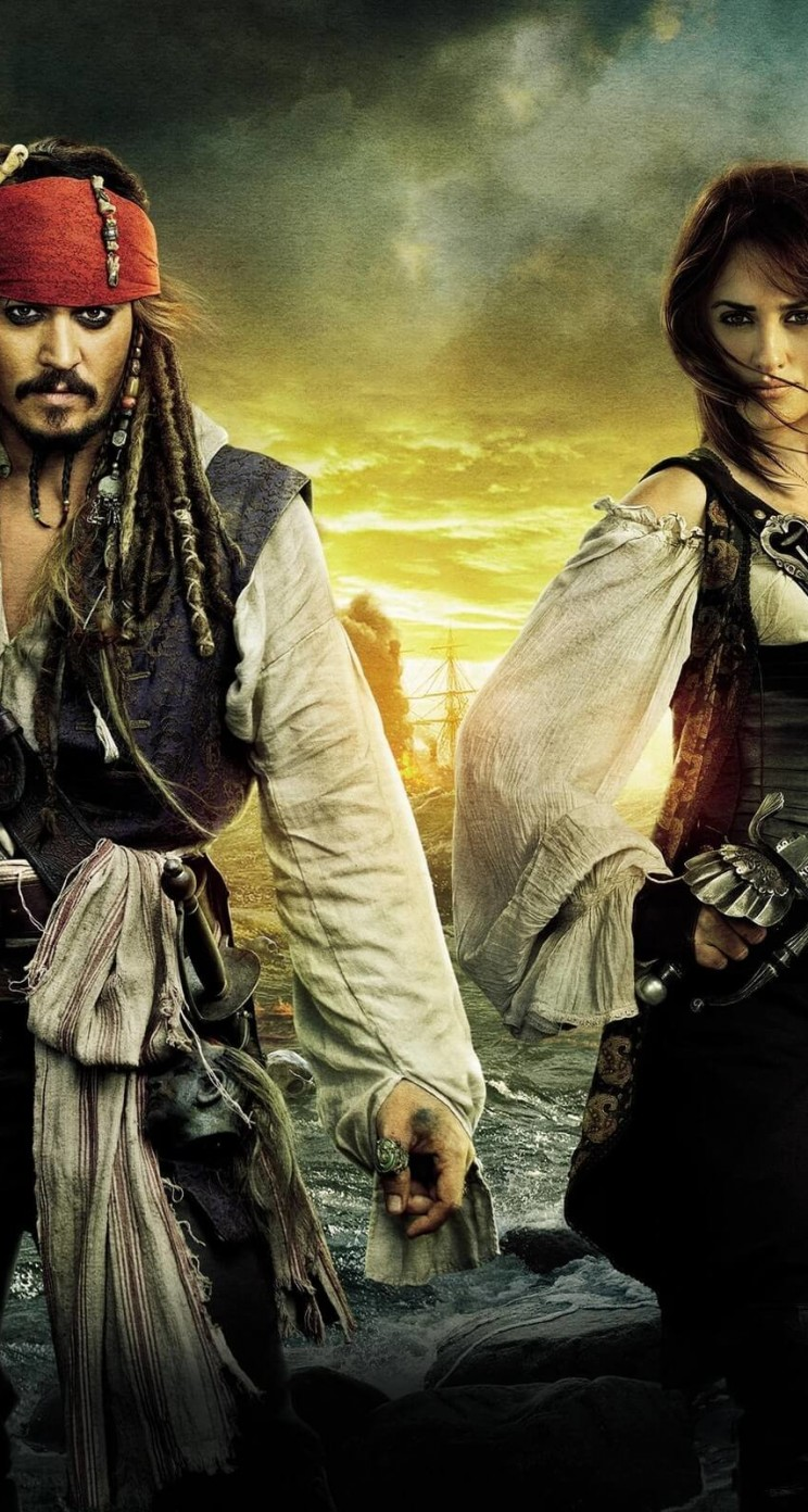 Pirates of the Caribbean: On Stranger Tides Characters Wallpaper for Apple iPhone 5 / 5s