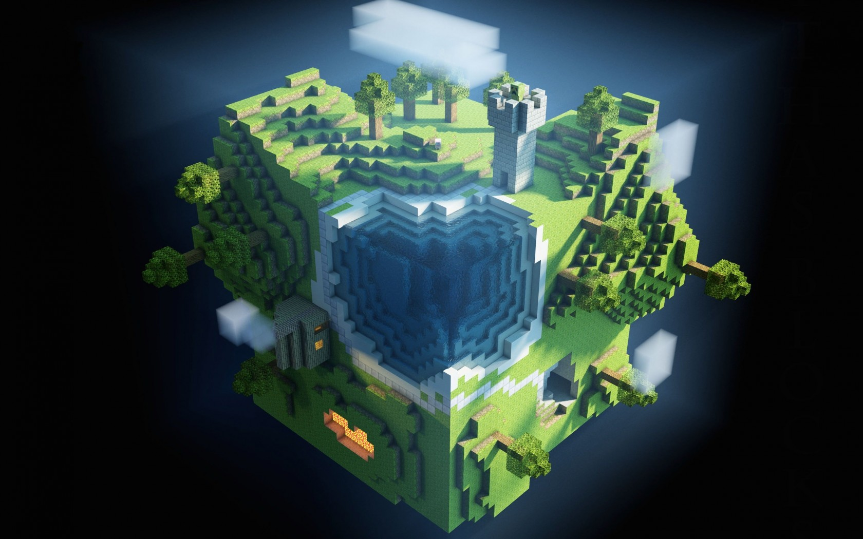 Planet Minecraft Wallpaper for Desktop 1680x1050