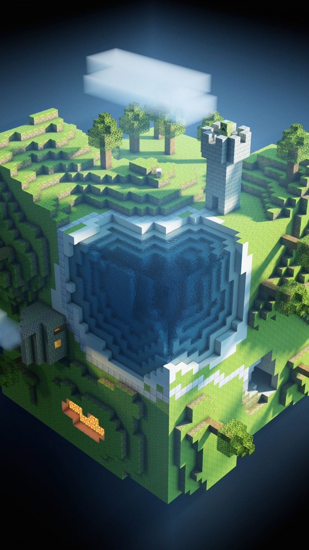 Planet Minecraft Wallpaper for SAMSUNG Galaxy S4