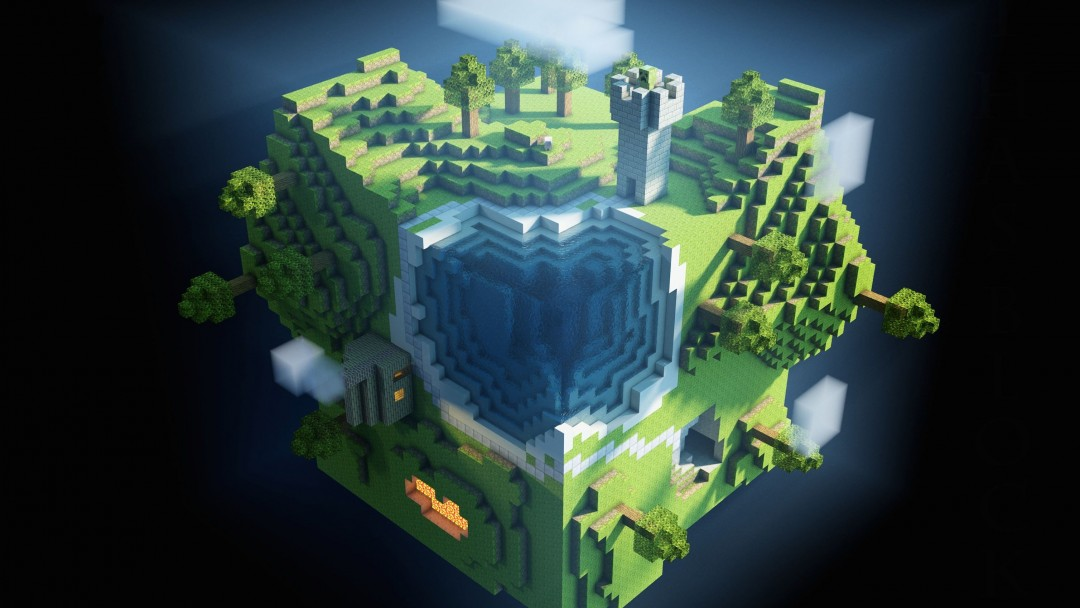 Planet Minecraft Wallpaper for Social Media Google Plus Cover