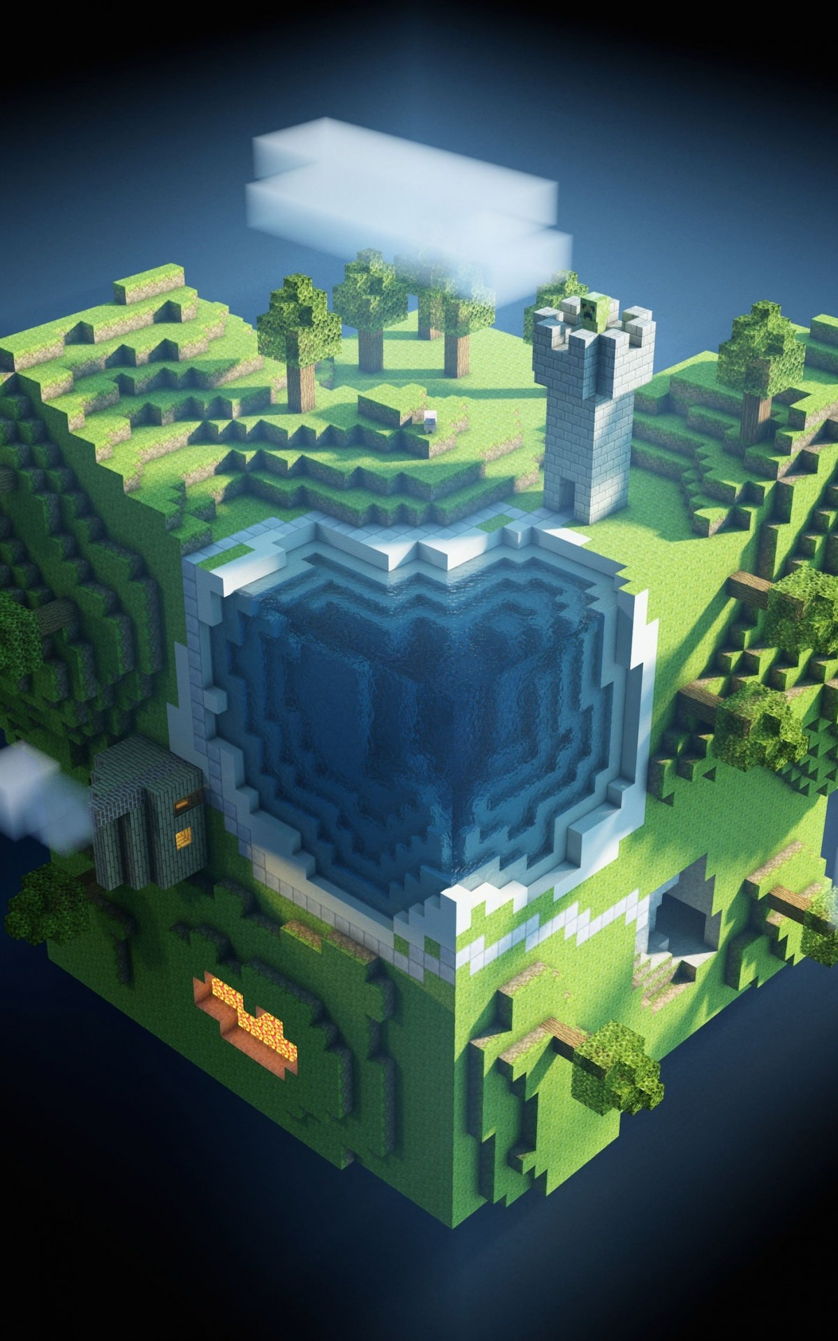 Planet Minecraft Wallpaper for Amazon Kindle Fire HDX