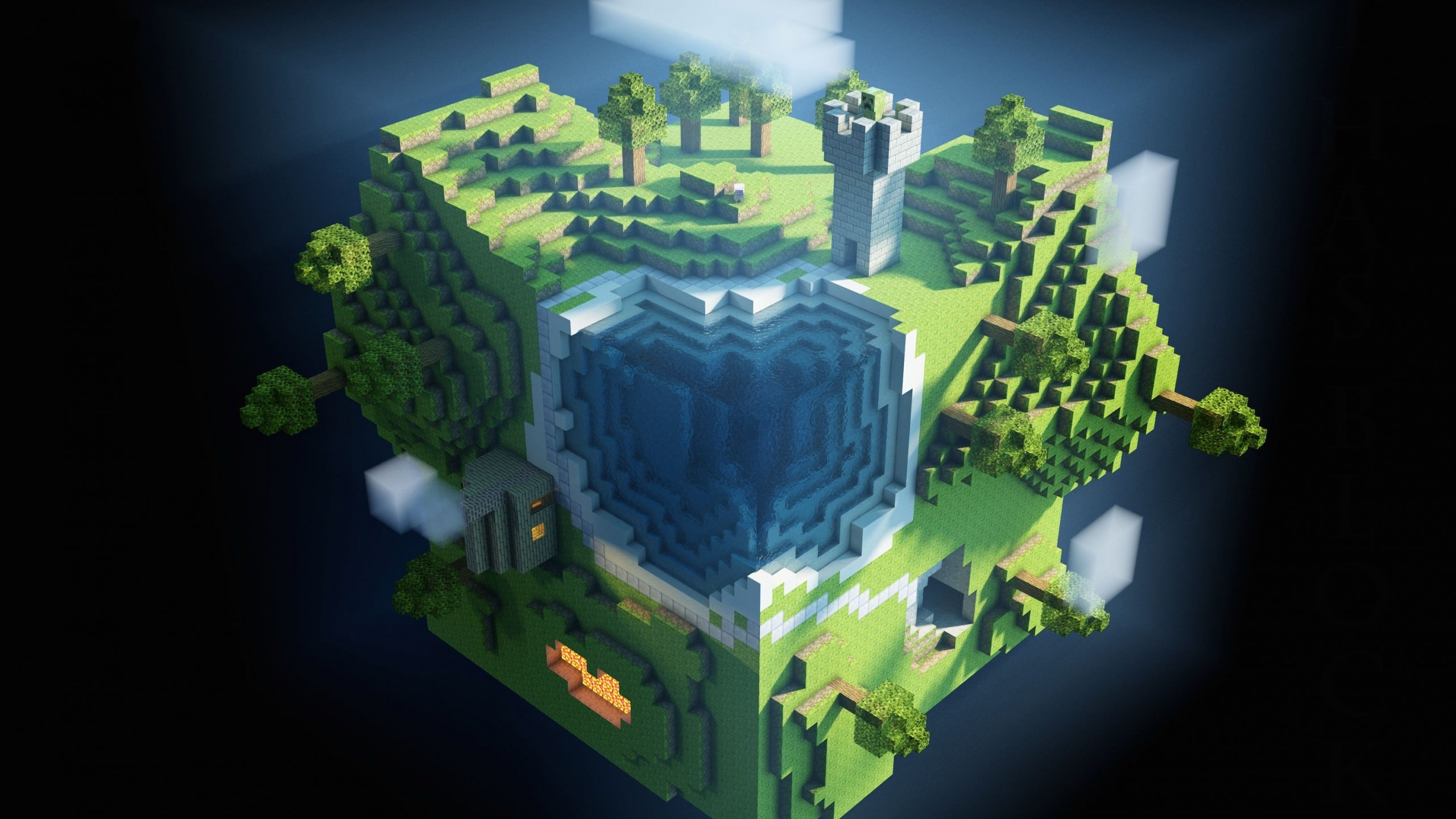 Planet Minecraft Wallpaper for Social Media YouTube Channel Art
