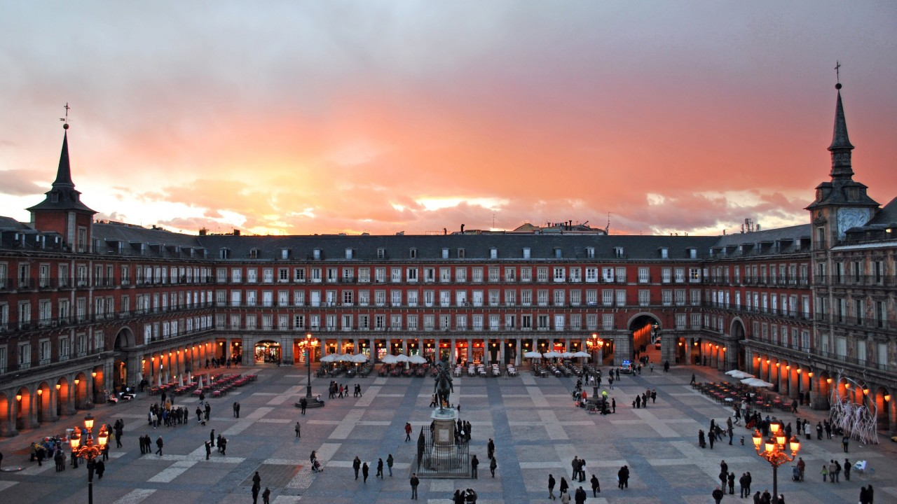 Plaza Mayor, Madrid, Spain Wallpaper for Desktop 1280x720