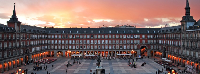 Plaza Mayor, Madrid, Spain Wallpaper for Social Media Facebook Cover