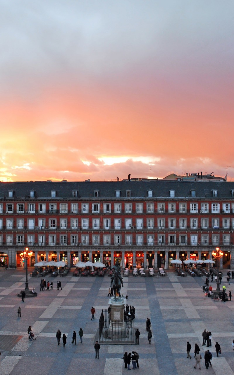Plaza Mayor, Madrid, Spain Wallpaper for Amazon Kindle Fire HD