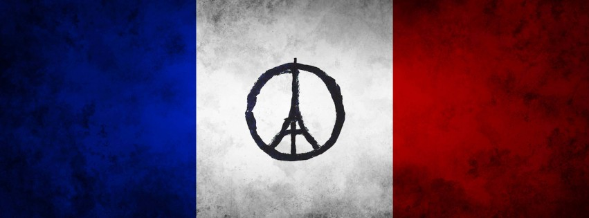 Pray For Paris Wallpaper for Social Media Facebook Cover