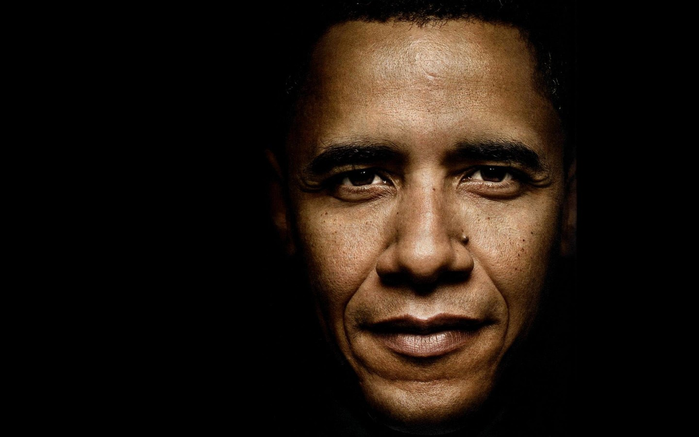 President Barack Obama Portrait Wallpaper for Desktop 1440x900