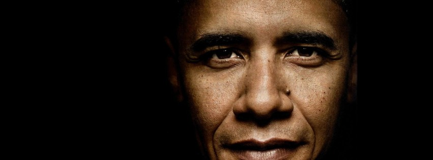President Barack Obama Portrait Wallpaper for Social Media Facebook Cover