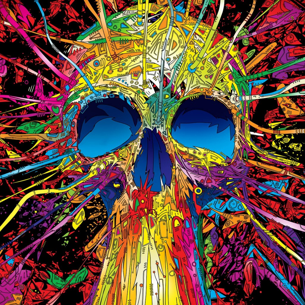Psychedelic Skull Wallpaper for Apple iPad